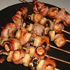 chicken and bacon shish kabobs picture