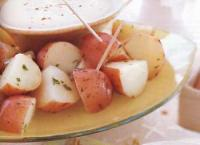 New Potatoes with Three-cheese Fondue picture