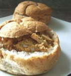Chicken Salad in a whole wheat bread bowl picture