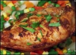 Citrus Chicken with Roasted Corn Relish picture