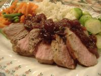 Pork Tenderloin With Balsamic-Cranberry Sauce picture
