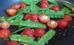 Sugar Snap Peas with Tomatoes and Garlic picture