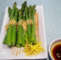 Hot or Cold Sesame Asparagus picture