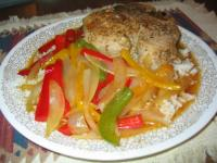 Pork chops and peppers picture