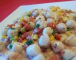 Creamed Scallops, Corn, and Tomatoes picture