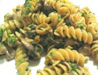 Pasta With Mushroom Garlic Sauce And Olives picture