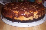 Chocolate Drizzled Peanut Butter Cheesecake picture