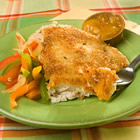 Coconut Tilapia with Apricot Dipping Sauce picture
