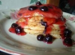 Blueberry Sour Cream Pancakes With Blueberry Sauce picture