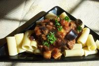 Rigatoni with beef and eggplant picture