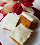 Pumpkin Cake Bars With Cream Cheese Frosting! picture