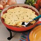 corn bread hamburger pie picture