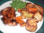 Mustard Honey Pork Chops & Vegetables picture
