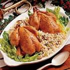 cornish hens with rice dressing picture