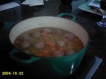 Split Pea Soup With Meatballs picture