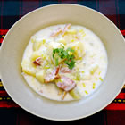 creamy potato leek soup picture