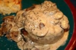 Pan Roast Beef Tenderloin with a Mushroom Cream Sauce picture