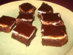Brownies With a Chocolate Glaze and Mint Frosting picture