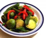 Sauteed Snap Peas & Brussels Sprouts picture