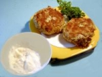 Salmon Cakes With Lemon - Herb Mayonnaise picture