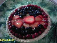 Fresh Berry Cardamom Cream Pie picture