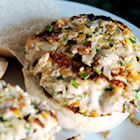 delicious ahi fish burgers with chives picture