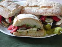 Grilled Vegies on Toasted Ciabatta Bread picture