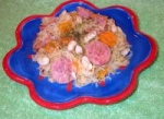 Kielbasa With Sauerkraut, Carrots, White Beans and Dill picture