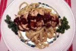 Seasoned Chicken over Fettucine picture