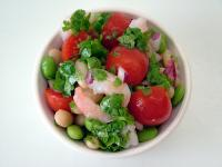 Edamame and Bean  Salad With Shrimp and Fresh Salsa picture