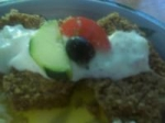 Greek Gyro Meatloaf With Cucumber Yogurt Sauce picture