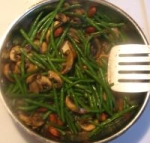 French Green Beans Sauteed With Mushrooms and Almonds picture