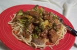 Spicy Linguine, Beef and Broccoli picture