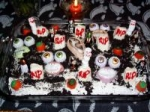 Spooktacular Halloween Graveyard Cake picture