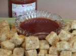 Deep Fried Tofu With Asian Plum Sauce or Thai Peanut Sauce picture