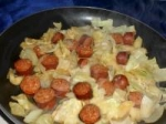 Smoked Chicken Sausage With Apples & Cabbage picture