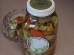 Spicy Pickled Green Tomato, Red Onion, Carrot & Garlic picture