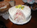 Diabetic Spring Fling Layered White Cake picture