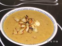 Curried Parsnip and Apple Soup With Parsnip Crisps picture