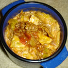 false cabbage rolls picture