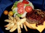 Gourmet Bleu Cheese Burgers picture