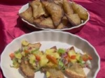 Green Chile Wontons With Pineapple Salsa picture