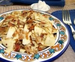 Cabbage Noodles With Crispy Bacon picture