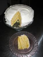 Lemon Cake With Lemon Filling and Lemon Butter Frosting picture