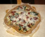 White Pizza With a Variety of Toppings picture
