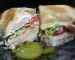 Awesome Swiss and Mozzarella Ham Hoagies picture