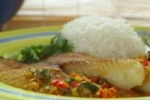 Broiled Tilapia With Thai Coconut- Curry Sauce picture