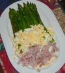 Asparagus With Ham and Eggs picture