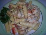 Grilled Chicken Rigatoni With Pesto Alfredo Sauce picture