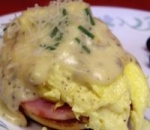 brunch eggs with herbed cheese sauce picture